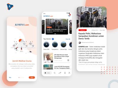 Read UI - Mobile Apps Kompas.com Exploration