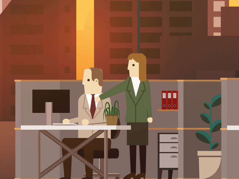 Office Illustrations cubicle vector illustration office