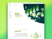 NEO Blockchain - Conceptual Web Design