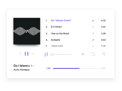 Music player clean experience interface lines simple tiny music musicplayer 009 dailyui ui daily