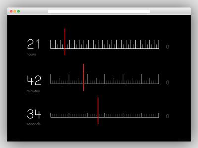 Countdown Timer pixels screensaver interface 014 ux ui dailyui timer countdown