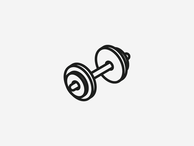 Isometric Exercise Icon weights sport ui ux iconography gradient isometric exercise icon