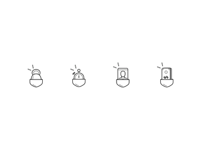 Everything in your pocket illustration lines design ui ux iconography icon icons