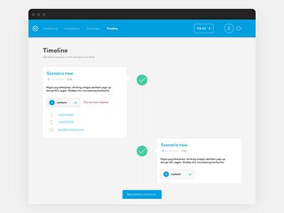 Easy Ripples Timeline user interface design blue screen ui ux design interface timeline