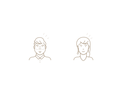 Characters portrait persons person woman men ux ui icon icons illustration