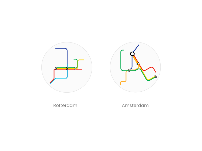 Subway Map Amsterdam.Metro Map By Jonathan De Roos On Dribbble