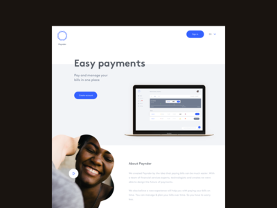 Easy payments interface design simplicity simple interface invoice banking bank paying payment webdesign website