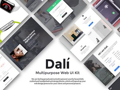 Dali Web Ui Kit best designs psd website builder best web ui kit best ui kit web ui kit ux ui multipurpose web ui kit dali