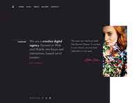 Website Header Layout