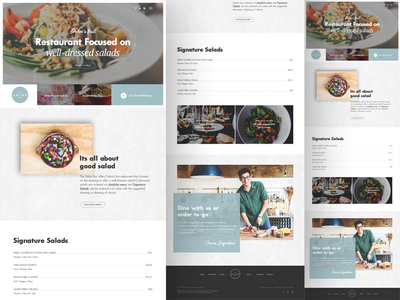 Home Page Design - Salad Bar webdesign prototype layout minimal clean restaurant responsive modern ux ui website design