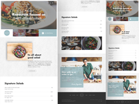 Home Page Design - Salad Bar