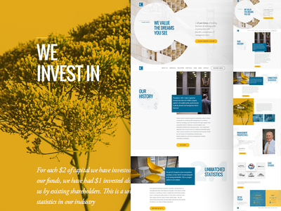 Website Design - Home Page bold best web design ux ui typography blue yellow website banking bank layout modern