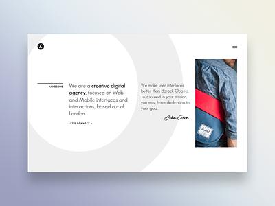 Website Home Page responsive minimalistic simple creative webpage best designs landing page ux ui website webdesign handsome headers