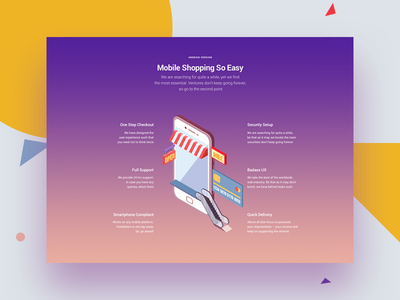 Website Block landing homepage dribbble ecommerce responsive mobile colorful simple modular web website webdesign