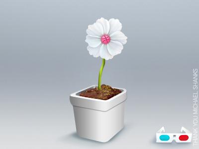 First Shot debut dribbble debut flower pot pot dribbble pot icon thanks thank you creative conceptual subtle clean