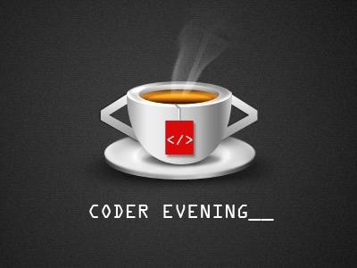 Cup cup tea coffee coder evening white red grey ui design user interface design website design web design web designing icon icon designing 3d logo