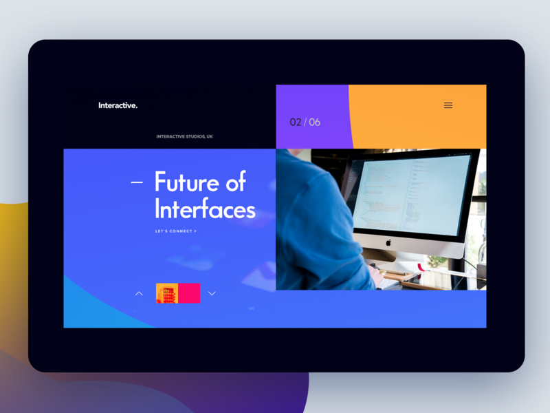 Website_Interactive colorful typogaphy futuristic creative illustration ui design user interface web website ui