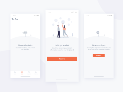 Little Hills sketch onboarding error empty ui app illustration