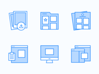 Coaster features icons
