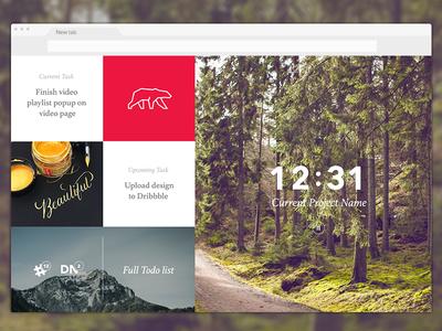New Tab Plugin inspiration track extension chrome tab new