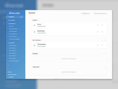 Dashboard sidebar list dashboard