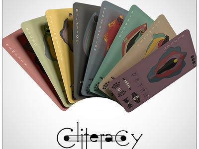 Cliteracy Feminist Card Game strong own choice 32 perfect present nature menstruation pubic vulva baubo dilation pierced empowerment feminism political kickstarter cards card game cliteracy