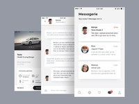 prime App - Message screens