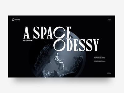 A Space Odessy 2020 render design typography film webdesign art direction octane c4d space 3d sketch