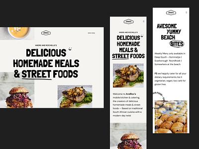 Androcs Catering website flat typogaphy figma development webflow catering food clean uiux ui webdesign website