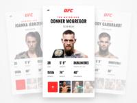 UFC app - Fighter Cards