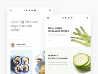 Vegan Recipe App Concept