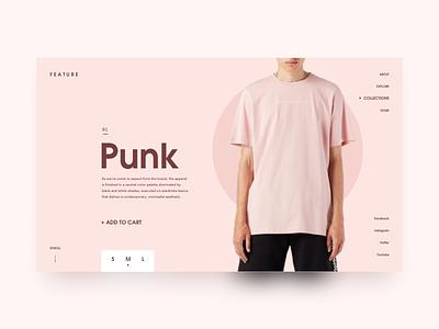 Feature Minimal Concept webflow shop app clean desktop fashion muzli minimal ui
