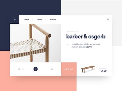Barber & Osgerb ios designers invision furniture mondrianizm app clean desktop studio muzli minimal ui