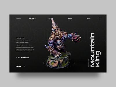 Warmachine - Hordes aftereffect photoshop sketch 3d art web ux ui physical cinema4d animation 3d