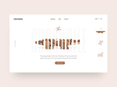 Fablewoods-Hero-animation product design clean sketch flat minimal animation branding design desktop web design toys kids wood uiux typography web ui