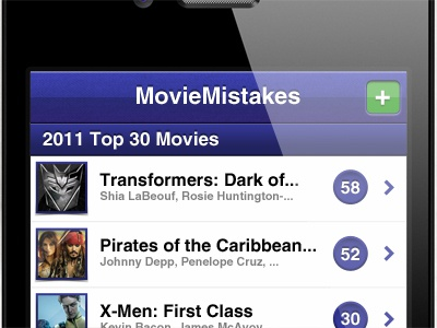 MovieMistakes, mobile friendly