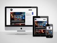 Responsive portfolio site
