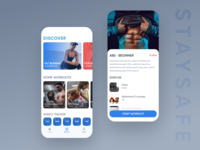 Start Workout App - #staysafe figma user interface detail view discover exercises workout concept ui iphonex