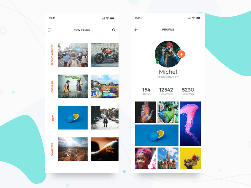 Photography App - Share Photos photography iphonex pexels minimal uidesign adobexd concept ui user interface ios app ux