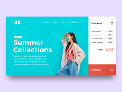 Ecommerce Landing Page - Download ecommerce checkout uxdesign photoshop uidesign freebie concept ui user interface ios website ux
