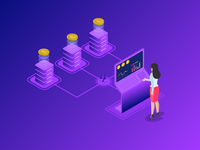 Cryptocurrency Tracker Isometric
