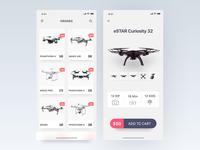 Drone Product App - IphoneX