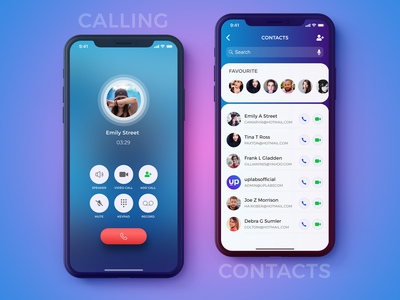 Calling & Contacts Screen- IPhoneX