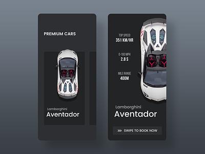 Premium Car App illustration gif photoshop sketch racecar uidesign design freebie ios ux user interface concept ui