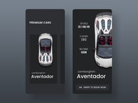 Premium Car App illustration gif photoshop sketch racecar uidesign design freebie ios ux user interface concept ui