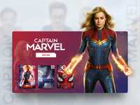 Caption Marvel Landing Page Freebie ticket booking responsive ironman marvel superhero figma concept ui user interface landing page illustration ux