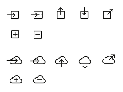 File Handling Icons icon button action file save upload download share cloud add remove save as