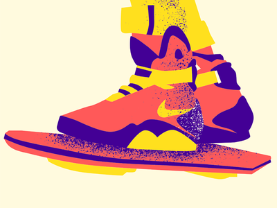 Back To The Future Today illustration vectorart martymcfly today hoverboard backtofuture