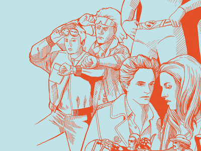 Back To The Future Today #2 backintime illustration docbrown martymcfly today backtofuture
