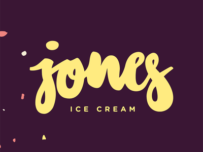jones ice cream icecream letters vector branddesign branding logo